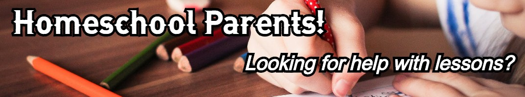Homeschool parents! Looking for help with lessons?